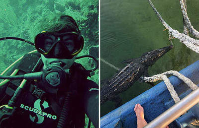 Marine biologist escaped from the jaws of a three-meter crocodile