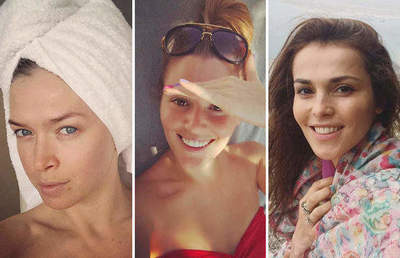 Russian stars which are beautiful without makeup