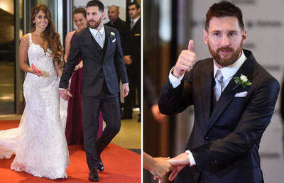 Lionel Messi went down the aisle
