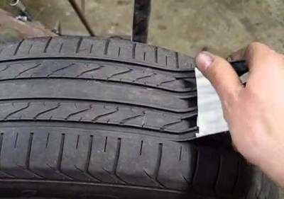 How old tires give the appearance of new