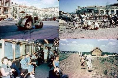 Series of shots USSR in the late 1950s