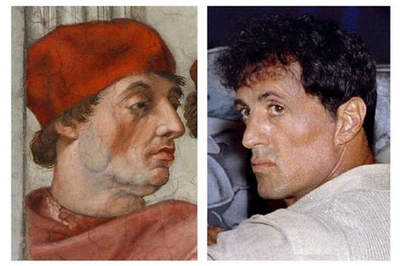 Student found Sylvester Stallone on the fresco of the XVI century
