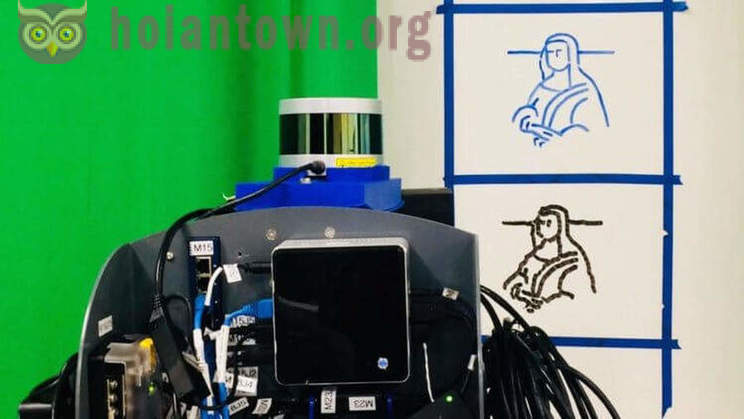 The robot learned to copy the human handwriting and drawings