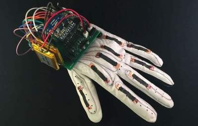 Create an inexpensive glove that translates sign language into text