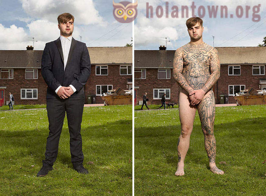 Naked truth. People who scored from head to toe in clothes and without