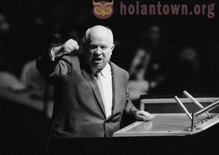 Khrushchev world gruel showed: Do pounded his shoe on the podium secretary general of the UN?