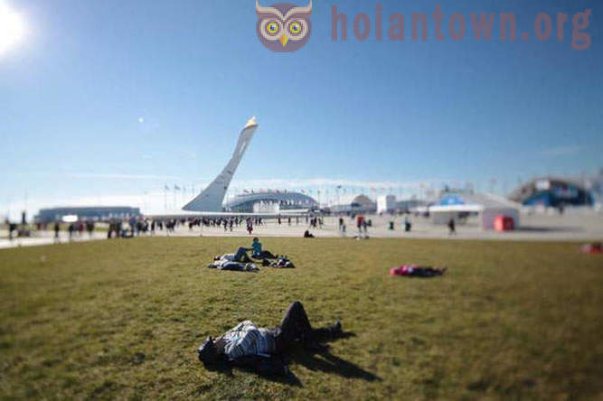 What happens in the Olympic Park and the surrounding area?