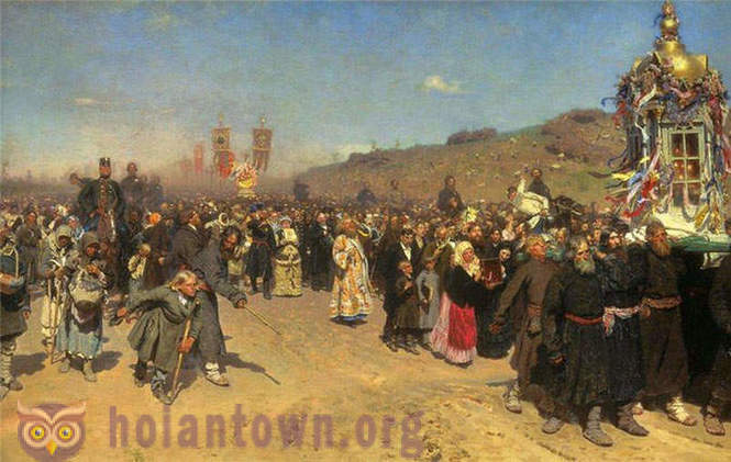 Russian 19th century - oil paintings