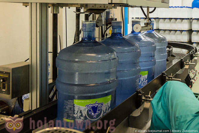 How does the plant for the production of drinking water