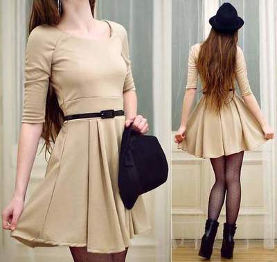 From what to wear beige dress? Beige dress (photos)