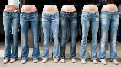 Dimensions of jeans. jeans size male and female: the table